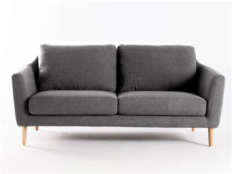 canapé convertible style scandinave canapé fixe tissu pieds bois style scandinave hej gris