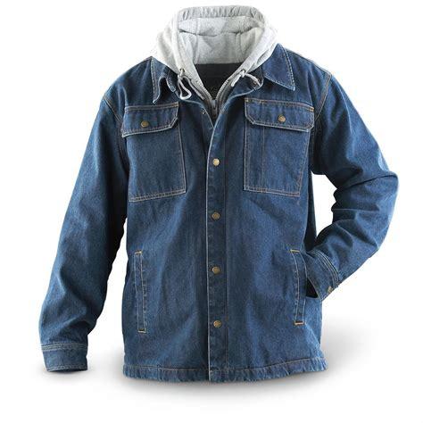 Guide Gearu00ae Fleece - lined Denim Jacket - 139225 Insulated Jackets u0026 Coats at Sportsmanu0026#39;s Guide