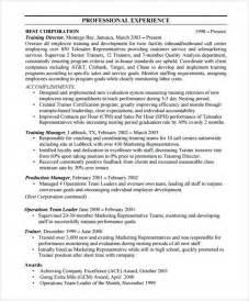resume format for team leader position in bpo resume team leader position