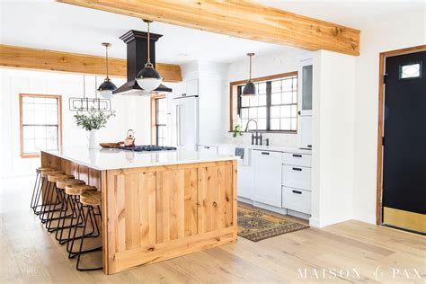 rustic modern farmhouse kitchen reveal maison de pax