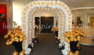 Black and Gold Balloons Decorations