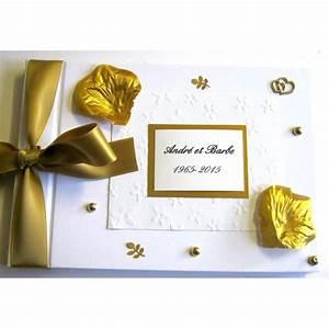 Cadeau Noce D Or : livre d 39 or pour noces d 39 or livre d 39 or 50 ans atelier du livre dor ~ Teatrodelosmanantiales.com Idées de Décoration