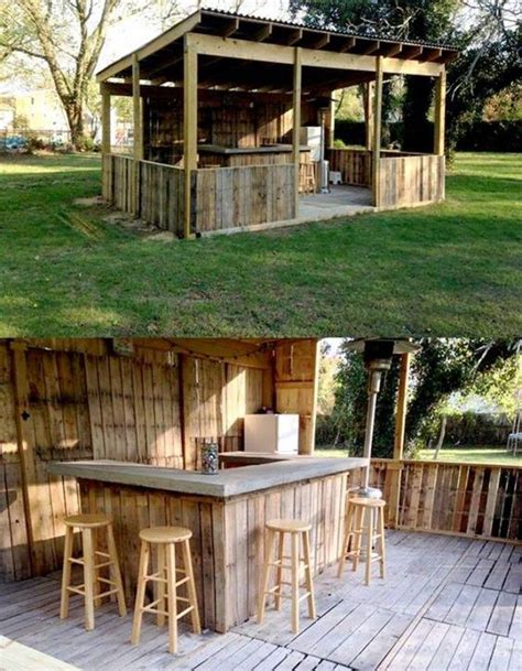 Outside Bar Furniture by Outdoor Pallet Bar These Are The Best Diy Pallet Ideas