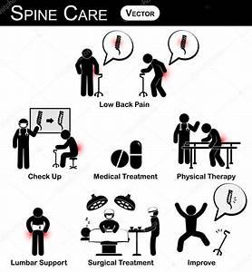 Vector Stickman Diagram   Pictogram   Infographic Of Spine