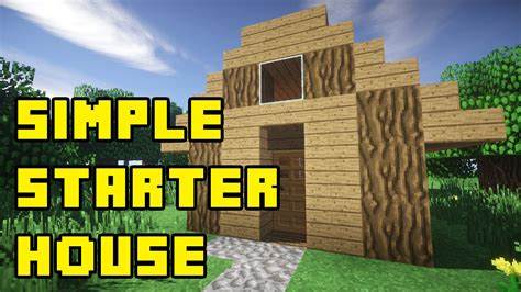 minecraft simple starter compact survival house tutorial xboxpepcpsps youtube