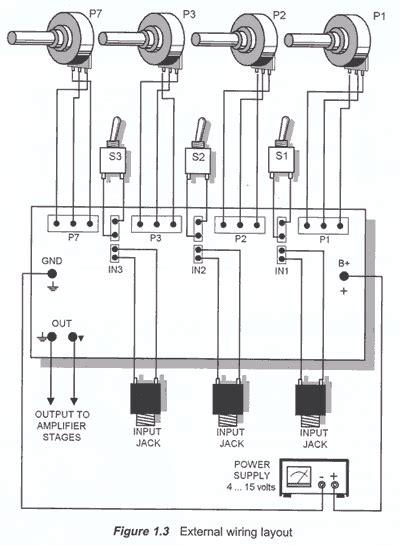channel audio mixer circuit