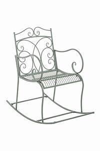 Fauteuil Fer Forgé : fauteuil bascule edith chaise bascule de jardin en fer forg design antique ebay ~ Melissatoandfro.com Idées de Décoration