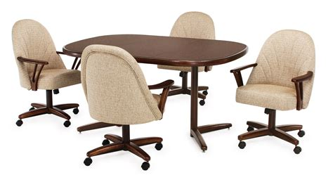 Chromcraft Kitchen Chairs With Casters by Chromcraft Swivel Caster Dinette Chair Gallery With