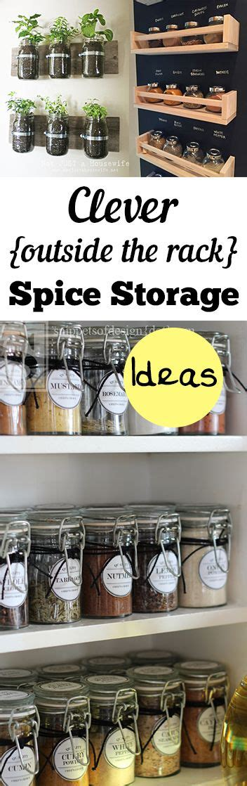 Clever Spice Rack by Best 25 Spice Storage Ideas On Spice Rack