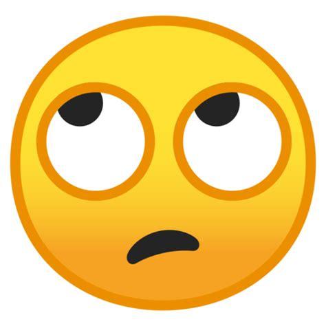 ojos en blanco emoji