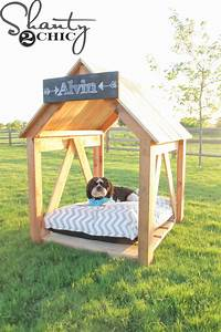 Diy dog house shanty 2 chic for Diy outdoor dog house