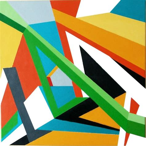 3d artwork for saatchi 3d geometric abstraction painting by marek uhlir