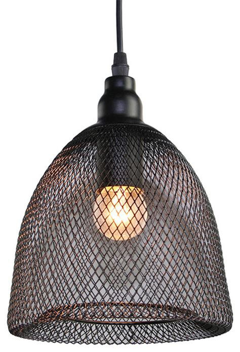 chicken wire dome pendant light industrial pendant