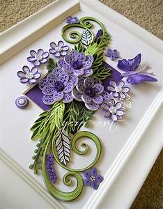 Ayani art: Purple and Green Quilling