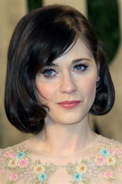 zooey deschanels hairstyles hair colors steal  style