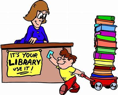 Library Cartoon Clipart Books Librarian Cliparts Building