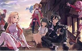 Good times in SAO  Asuna Kirito Yui Silica Klein and Lisbeth having a      Sword Art Online Wallpaper 1920x1080 Yui