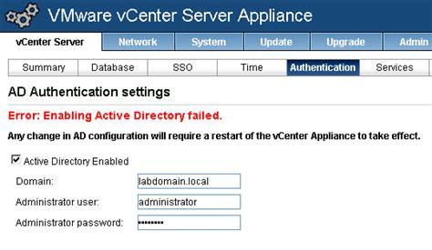 vmware vcenter 5 5 active directory join disjoin nokitel