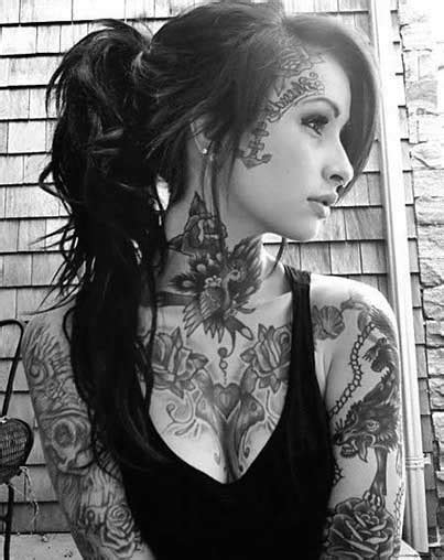 Women's Neck Tattoos | Rebel Circus