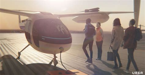 uber shows its flying taxi service in new