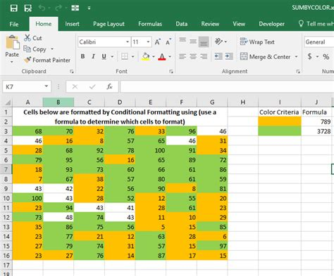 excel countif color sum by color when colors are set by conditional formatting
