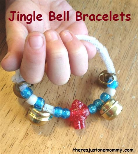 christmas craft jingle bell bracelet there s just one mommy