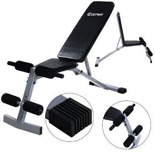 Incline Ab Bench by Costway Adjustable Foldable Sit Up Ab Incline Abs Bench