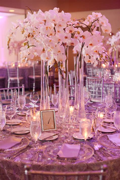 Tall White Orchid Centerpiece Elizabeth Anne Designs