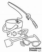 Fishing Rod Coloring Sunglasses Pages Summer Printable Sunglass Getcolorings Topcoloringpages Sheet Bucket sketch template