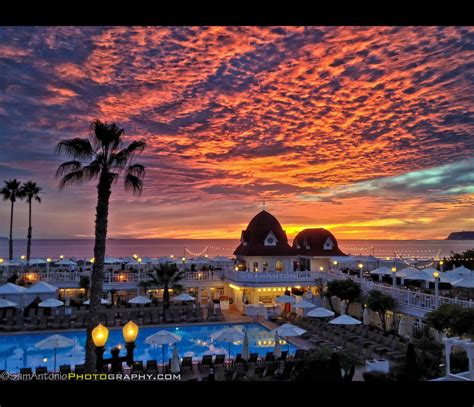 Light Show The Hotel Del Coronado Last Night Sunset