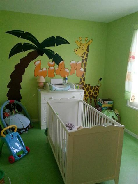 decoration chambre bebe theme jungle deco chambre bebe garcon jungle