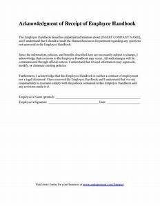 Employee Handbook Receipt Form
