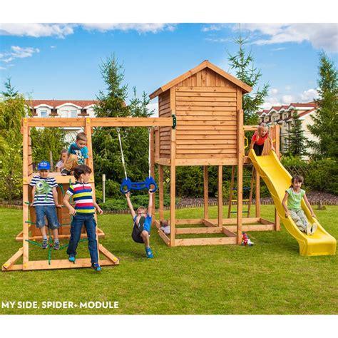 Aire De Jeux Bois Aire De Jeux Pour Enfants En Bois S 233 Ch 233 Lasur 233 Myside Spider Fungoo