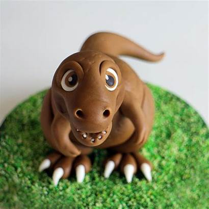 Dinosaur Cake Topper Tutorial Fondant Toppers Dino
