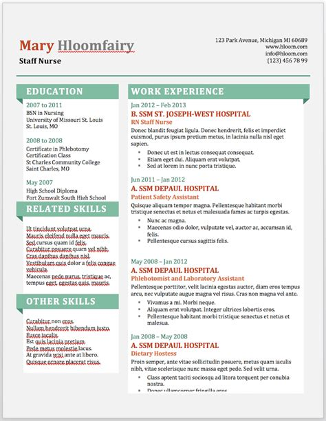 Resume Templates Word by 19 Free Resume Templates You Can Customize In Microsoft Word
