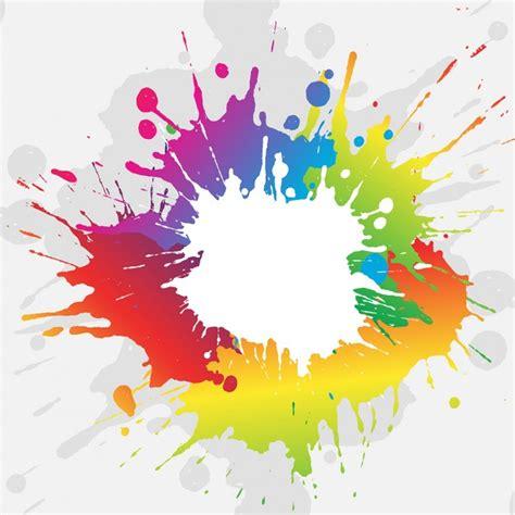 paint colorful colorful paint splash background vector free