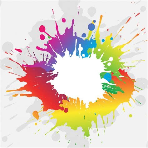 Colorful Paint Splash Background Vector  Free Download
