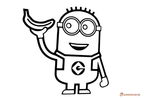 Minion Drawing Template At Getdrawingscom Free For