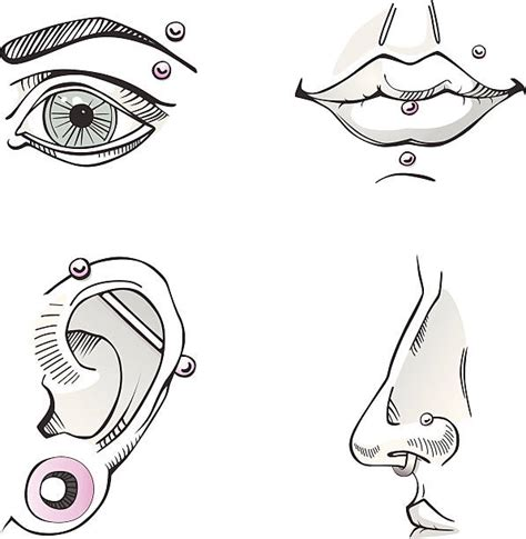 nose ring illustrations royalty  vector graphics