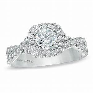 vera wang love collection 1 ct tw diamond frame With vera wang wedding rings love collection