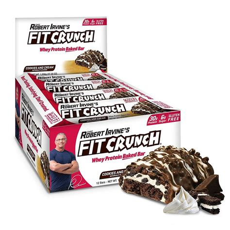 cookies cream protein crunch bars fitcrunch count bar