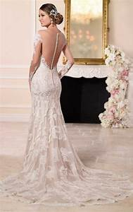 wedding dresses with illusion lace sleeves stella york With illusion sleeve wedding dress
