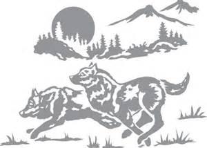 Wolf Glass Etching Stencils