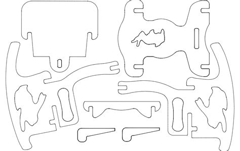 kids chair dxf file   axisco
