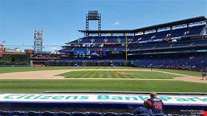 At T Park Seating Chart With Rows And Seat Numbers Citizens Bank Park Section 130 Philadelphia Phillies
