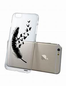 Coque Pour Iphone 6 : coque transparente plume pour apple iphone 6 plus 6s plus coquediscount ~ Teatrodelosmanantiales.com Idées de Décoration