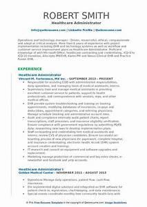Senior Customer Service Job Description Healthcare Administrator Resume Samples Qwikresume