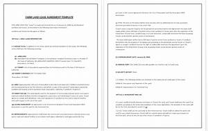 farm land lease agreement template tips guidelines With farm rental agreement template