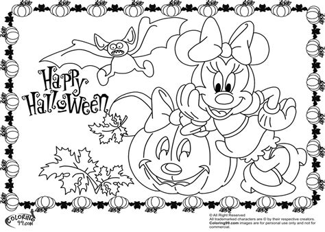minnie  mickey mouse coloring pages  halloween