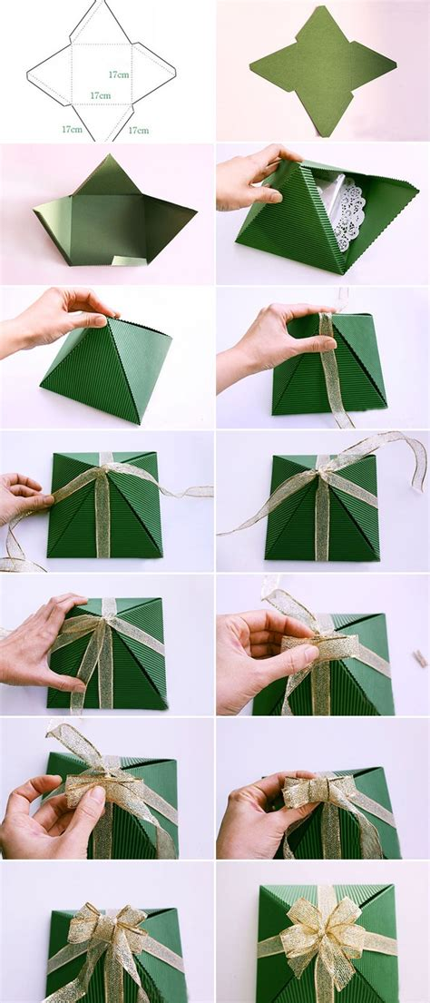 diy christmas gift wrap ideas handmade bows gift bags and toppers